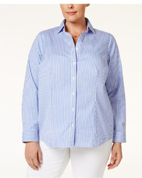 Charter Club Plus Size Striped Shirt Only At Macys