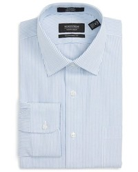 Shop traditional fit non iron stripe dress shirt medium 782283