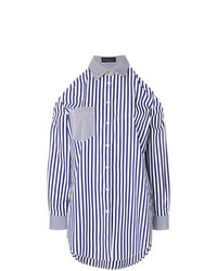 Rossella Jardini Striped Cold Shoulder Shirt