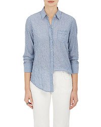 Nili Lotan Striped Cotton Long Sleeve Shirt