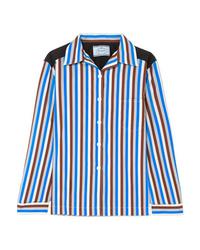 Prada Striped Cotton Poplin Shirt