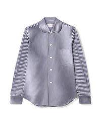 Comme Des Garçons Girl Striped Cotton Poplin Shirt