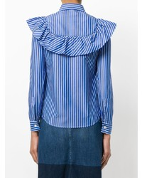 RED Valentino Striped Frill Shirt