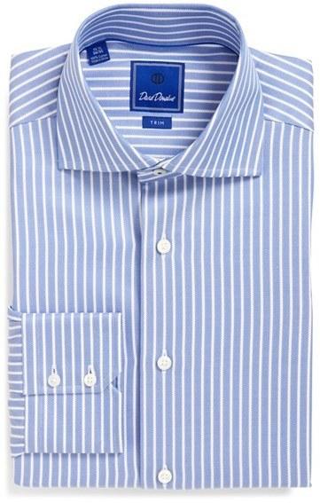 e4ba563f1 ... David Donahue Trim Fit Stripe Dress Shirt