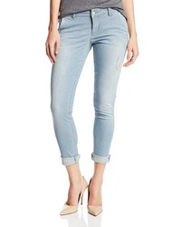 Sold Denim Slim Boyfriend Trouser In Railroad Stripe