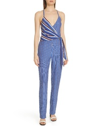 Rag & Bone Felix Stripe Silk Jumpsuit
