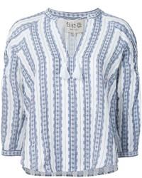 Striped tunic blouse medium 566244