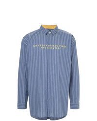 GUILD PRIME Bad Vibes Embroidered Striped Shirt