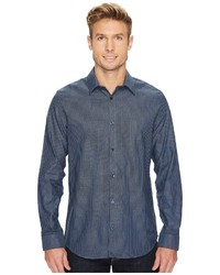 Calvin Klein Infinite Cool Wide Stripe Dobby Button Down Shirt Clothing