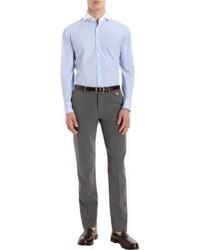 Michael Bastian Michl Bastian Striped Contrast Collar Dress Shirt