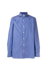 Borrelli Striped Cutaway Collar Shirt