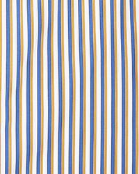 Kiton Striped Long Sleeve Dress Shirt Navy