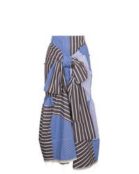 Marni Multi Striped Tie Front Skirt