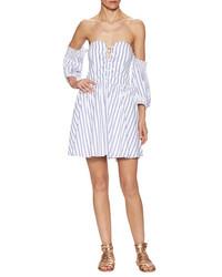 Cotton Corsette Off Shoulder Dress