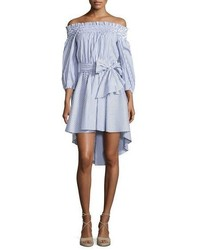Caroline Constas Lou Off The Shoulder Striped Dress