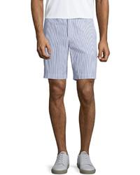 Orlebar Brown Dane 2 Striped Seersucker Shorts Navywhite