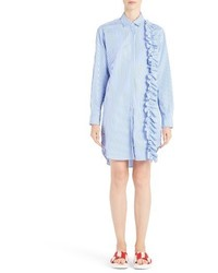 MSGM Ruffle Trim Gingham Shirtdress