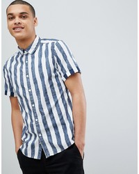 Esprit Slim Fit Short Sleeve Stripe Shirt