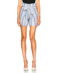 Jenni Kayne Baja Stripe Paper Bag Linen Shorts
