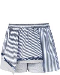 Thakoon Addition Asymmetric Layer Striped Shorts