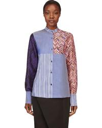 Roksanda Blue Silk Multi Print Lorrimore Shirt