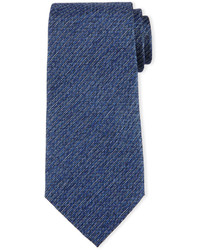 Striped linen effect silk tie medium 641370