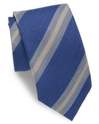 Striped silk blend tie medium 3669019