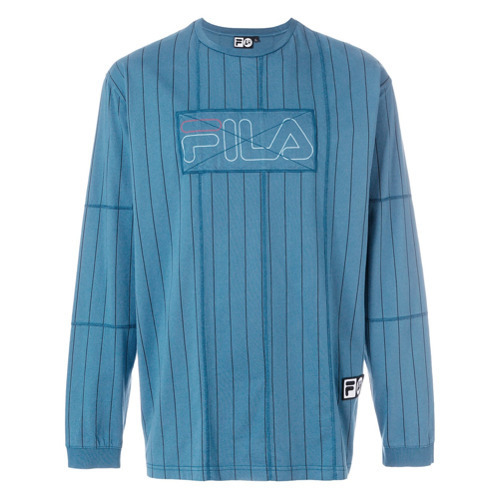 6ec49a22de ... Striped Sweatshirts Liam Hodges X Fila Logo Patch Sweatshirt ...