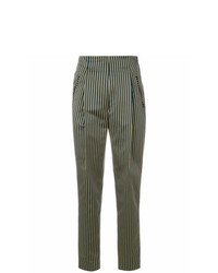 Etro High Waisted Striped Trousers