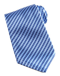 Stefano ricci striped silk tie bluenavy medium 153735