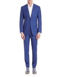 Canali Micro Striped Wool Suit