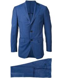 ESTNATION Striped Single Breasted Suit