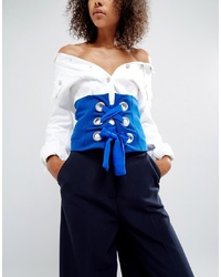 ASOS DESIGN Asos Bright Corset Belt With Large Eyelets