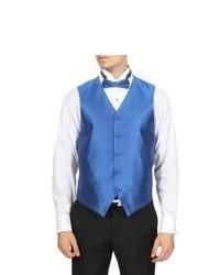 Ferrecci Royal Blue Solid 4 Piece Vest Set