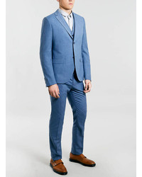 Topman Blue Suit Vest | Where to buy & how to wear