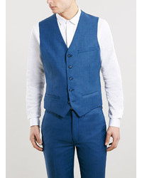 Topman Bold Blue Suit Vest