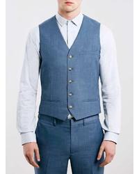 Topman Light Blue Suit Vest