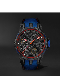 Roger Dubuis Excalibur Aventador S Limited Edition Skeleton 45mm Carbon Rubber And Alcantara Watch Ref No Rddbex0686