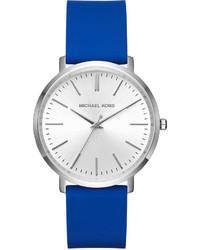 Michl michl kors 415mm jaryn watch w silicone strap silvertoneblue medium 832017
