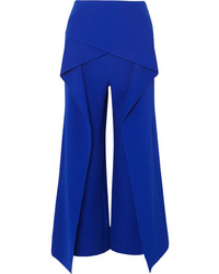 Roland Mouret Caldwell Layered Crepe Wide Leg Pants