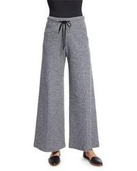 Drawstring waist wide leg pants navy medium 1247210