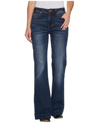 Rock and Roll Cowgirl High Rise Trousers In Dark Vintage W8h3406 Jeans