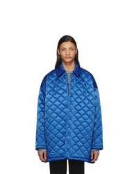 Balenciaga Blue Nylon Quilted Jacket