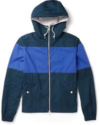 J.Crew Hooded Striped Cotton Jacket