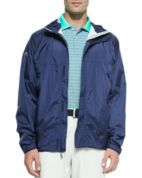 Peter Millar Owen 25 Layer Hooded Rain Jacket Navy