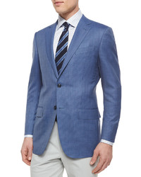 Micro check wool blazer blue medium 332320