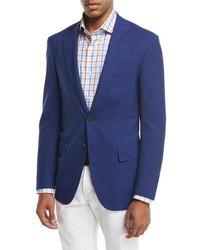 Sanita super 170s wool two button sport jacket blue medium 1246457
