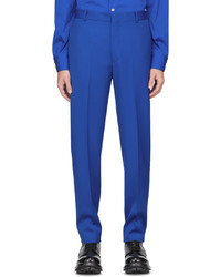 Alexander McQueen Blue Sustainable Cavalry Twill Trousers