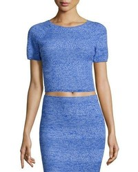 Alice + Olivia Solange Wool Crop Top Blue