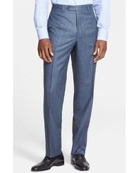 Blue Wool Dress Pants